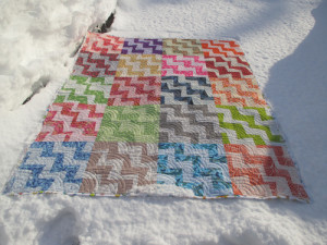 Rail Fence Whole Quilt