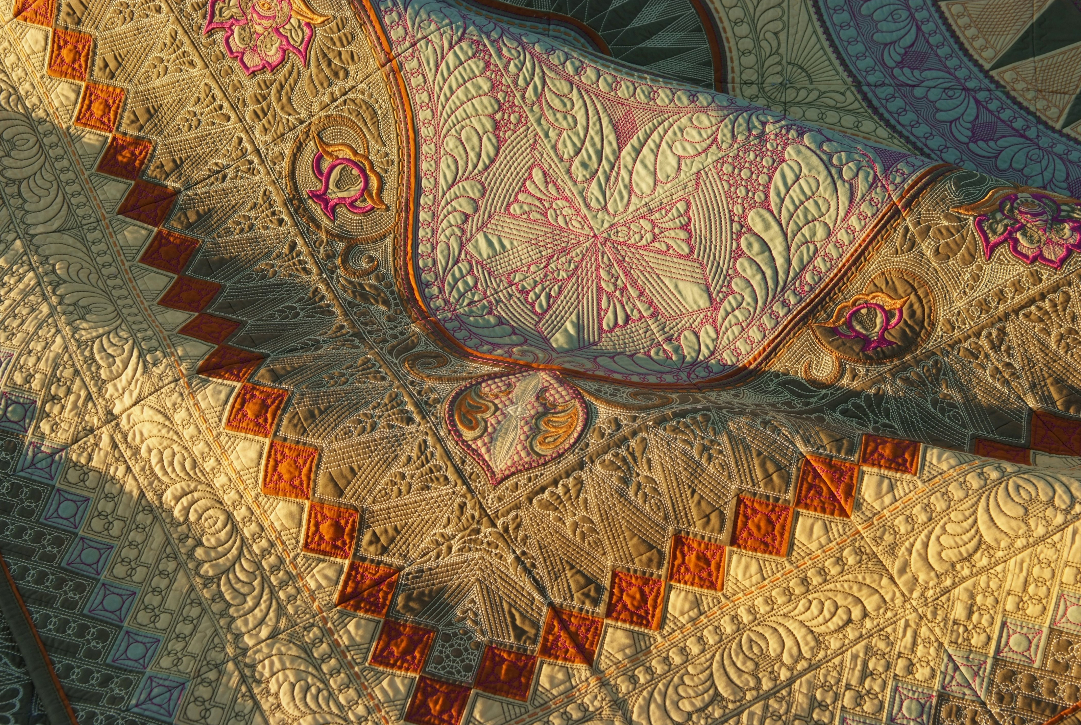 Hoopsisters' Jacobean Journey BOM   Quilted Threads : jacobean quilt - Adamdwight.com