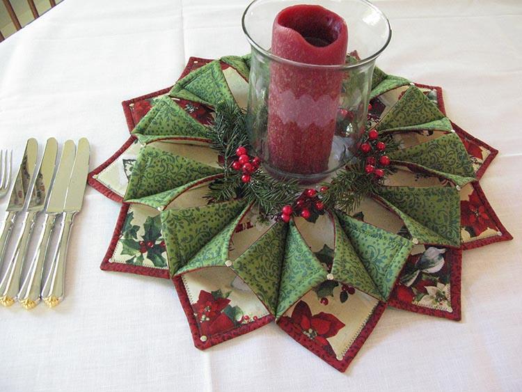 Fold N Stitch Wreath Workshop 2quilted Threads