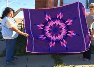 Lonestar quilt and Pine Ridge quilters - Pine Ridge Reservation
