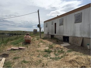 Trailer Home at Pine Ridge Reservation in South Dakota